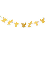 RayLineDo® 1 Piece Gold Garland For Wedding Birthday Anniversary Party Christmas Girls Room Decoration Angel Shape