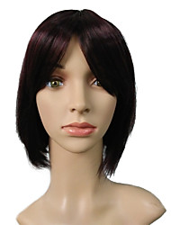 Capless Dark Wine Wig Short Bob Women's Party Wigs Cosplay Costume Hairstyle With Wigs Cap