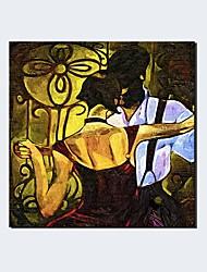 Peint à la main Fantaisie Portraits Abstraits Panoramique Horizontale,Moderne Classique Un Panneau Toile Peinture à l'huile Hang-peintFor