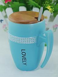 Colori Artigos para Bebida, 500 ml Simples padrão geométrico Cerâmica chá Leite Copos