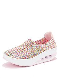 Feminino-Mocassins e Slip-Ons-Sapatos de Berço-Creepers-Verde Rosa claro Azul Claro-Materiais Customizados-Ar-Livre Casual Para Esporte