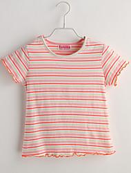 Baby T-Shirt,Lässig/Alltäglich Gestreift-Baumwolle-Sommer-Orange