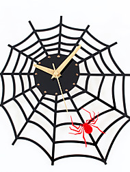 Modern/Contemporary Houses Creative Spider Wall ClockNovelty Acrylic Others 30 Indoor Clock