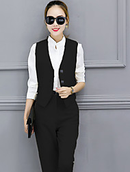 2017 spring new Korean fashion casual pants feet three-piece suit vest shirt female occupation OL suit