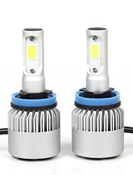 2Pcs / Set super lumineux 36w 8000lm h11 auto conduit ampoules feux anti-brouillard kit de phares led blanc des phares de voiture phares