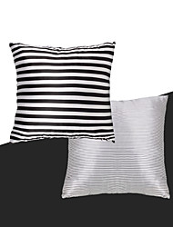 turqua PURELY BLACK & WHITE Cushion Cover Shine Bright Polyester Striped Style Sofa/Bed/Chair/Couch Pillow Case Free Shipping