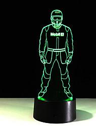 1pc toucher la police 7 couleurs Lampe LED couleur de la lumière 3d vision stéréo acrylique coloré gradient vision de lumière de nuit de
