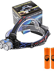 U'King® ZQ-X838B#4 2*CREE XML-T6 4000LM LED 3Modes Headlamp Bicycle Lamp Kit Emergency Charging for your Mobile Devices