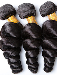 Vinsteen 3 Pieces 300g Loose Wave Natural color Human Hair Weaves Brazilian Texture Unprocessed Human Hair Extensions  Thick Ends Hair Wefts