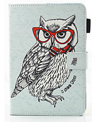 For iPad Air Air 2 Owl Pattern PU Leather Material  Protection Case