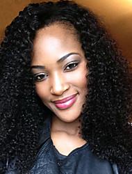 cabelo virgem glueless perucas cheias do laço da Malásia alto grau carapinha encaracolado 100% perucas de cabelo rendas virgens humanos