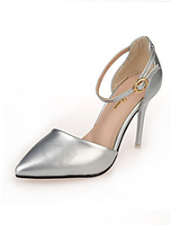 Women's Heels Spring Summer Club Shoes Leather Patent Leather Wedding Office & Career Party & Evening Dress Stiletto HeelBlack Pink