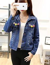 определить реальный выстрел 17 пружины джинсовую куртку женский Корейский институт ветра дикий рыхлой с длинными рукавами рубашки