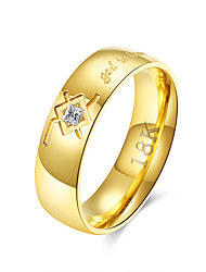Solitaire Ring Carving god is love Inlaid Zircon Gold Plated Rings Stainless Steel Jewelry for Lovers Simple Band Fashion Ring