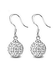 Drop Earrings Crystal Crystal Rhinestone Simple Style Fashion Silver Jewelry Daily Casual 1 pair