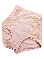 Women's Sexy Lace Slimming High Waist Body Tummy Control Shaping Panties Nylon Spandex Female Underwear Beige