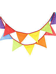 3.2m 12Flags Colorful Banner Pennant  Cotton Bunting Banner Booth Props Photobooth Birthday Wedding Party Decoration