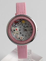 Fashion Watch Quartz / PU Band Casual Pink Brand