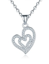 Necklace Europe Heart Shape Silver Gold Pendant Necklace