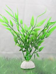 Décoration d'aquarium Plante d'eau Non toxique & Sans Goût Plastique Vert