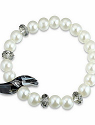 Women's Chain Bracelet Crystal Natural Pearl Austria Crystal Circle Tower Jewelry For Gift