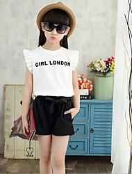Casual/Daily Print Sets,Cotton Rayon Summer Sleeveless Clothing Set