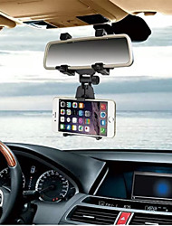 Car Phone Holder  INSOU 360 Degree Universal Adjustable Car Rear-view Mirror Mount Mobile Phone Holder Stands for Smartphones