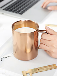 Classic Drinkware, 450 ml Decoration Stainless Steel copper plating Juice Milk Coffee Mug