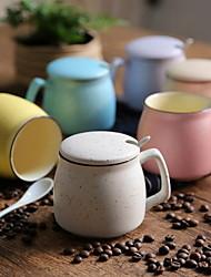 1pcs Minimalism Drinkware 360 ml Boyfriend Gift Girlfriend Gift Ceramic Coffee Milk Coffee Mug With Spoon Cover Random Color