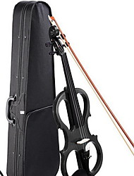 Electronic Violin Black String Musical Instrument Case