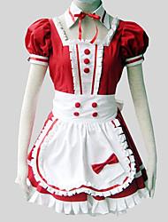 Traje de Camarera Lolita Clásica y Tradicional Rococó Cosplay Vestido  de Lolita Un Color Puff/Globo Manga Corta Longitud LargaVestido