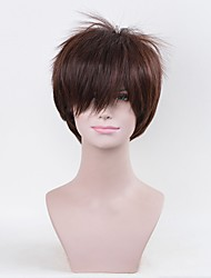 Cosplay Wigs Attack on Titan Eren Jager Anime Cosplay Wigs 25 CM Heat Resistant Fiber Male
