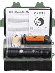 Eclairage Lampes Torches LED Kits de Lampe de Poche LED 2000 Lumens 3 Mode Cree XM-L T6 18650 AAA 26650 Faisceau Ajustable Rechargeable