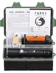 U'King ZQ-X1069B#3-EU CREE XML T6 2000LM 3Modes White/Round LED Flashlight Torch Kits with USB Charging Cable