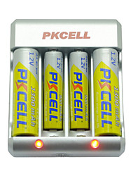 Pkcell 8174 AAA AA Nickel Cadmium Battery 1.2V 900mAh 5 Pack
