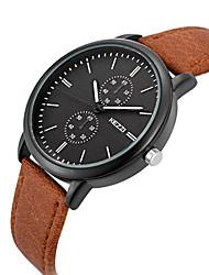 KEZZI Sport Watch Fashion Watch Wrist watch Quartz PU Band Cool Casual Black Blue Brown Black Coffee Blue