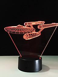 3d lampe acrylique visuelle conduit lumière de nuit pour les enfants star trek navire tactile usb tableau lampara pour les