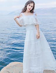 signer robe de fée superbe robe en dentelle blanche brodée robe de plage de la station bohème