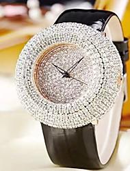 Fashion Watch Quartz Leather Band Casual White