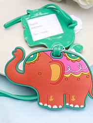 1pcs Lucky Elephant Luggage Tag Favor Beter Gifts® baby shower favour supplies Recipient Gifts