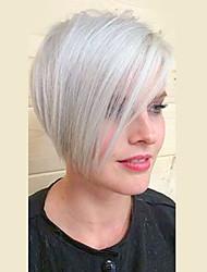 белый эфирный естественно синтетический парик