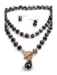 Ensemble de bijoux Bijoux Alliage Original Personnalisé euroaméricains Mode Ajustable Bijoux Noir Violet Rouge Bleu Pendentif de collier