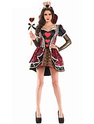 Adult Alice In Wonderland Cosplay Party Deluxe Queen Of Hearts Costume Female Queen Halloween Costumes for Women