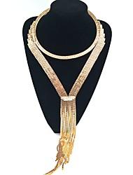 Gargantillas Gargantillas Collares con colgantes Y-Collares Joyas Boda Fiesta Diseño Circular Diseño Único Legierung Brillante 1 pieza