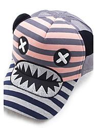 Unisex Cotton Spring And Summer Striped Mouth Shark Banner Eye Prints Baseball Cap
