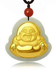 Ожерелья с подвесками Нефрит Драгоценный камень Позолота В виде подвески Мода Золотой БижутерияОсобые случаи День рождения Повседневные