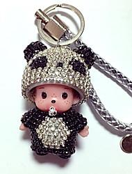 Dolls Key Chain Diamond Toys Cartoon Lovely Leisure Hobby Purple Crystal