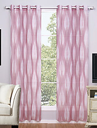 Two Panels Curtain Modern Geometic Living Room Polyester Sheer Curtains Shades Home Decoration For Window