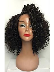 ¡¡caliente!! frente del cordón del pelo virginal brasileño corto pelucas pelucas de cabello humano con pelo del bebé 8-30 pelucas del