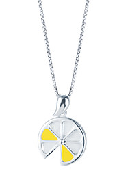 SILVERAGE Sterling Silver Lemon Slices Pendant Necklace